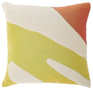 Viso Project - Tapestry Small Cotton Cushion - Yellow Multi
