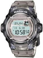 Baby-G Ladies' Grey Rubber Strap Watch