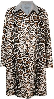 Bottega Veneta Leopard Print Coat