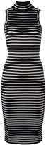 MICHAEL Michael Kors striped dress - women - Nylon/Spandex/Elastane/Viscose - L