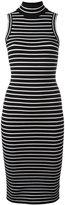 MICHAEL Michael Kors striped dress - women - Nylon/Spandex/Elastane/Viscose - L