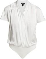Paige Dijon Short-Sleeve Blouse Bodysuit