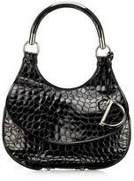 Dior Dior 61 Croc-Stamped Patent Hobo