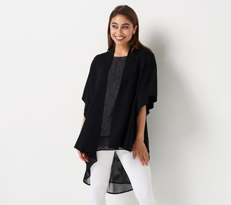 Truth + Style Sweater Knit Shrug with Kimono Sleeves