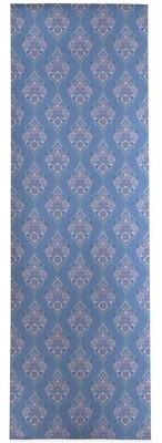 World Menagerie Sherice Damask Blue/Pink Area Rug Rug Size: Runner 3' x 8'