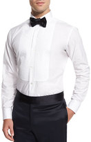 Charvet Basic Pleated Cotton Dress Shirt, White