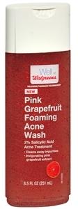 Walgreens Foaming Acne Body Wash, Pink Grapefruit