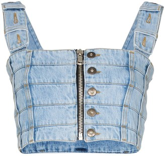 Faith Connexion Panelled Denim Bodice