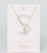Orelia Gold Plated Large S Initial Necklace