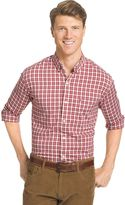 Izod Men's Advantage Classic-Fit Checked Stretch Button-Down Shirt