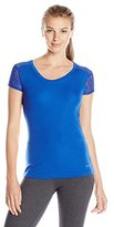 Danskin Women's Warm-Ups Lace Back T-Shirt