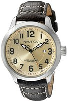Nautica Men's NAD10006G NCC 01 Date Analog Display Analog Quartz Brown Watch