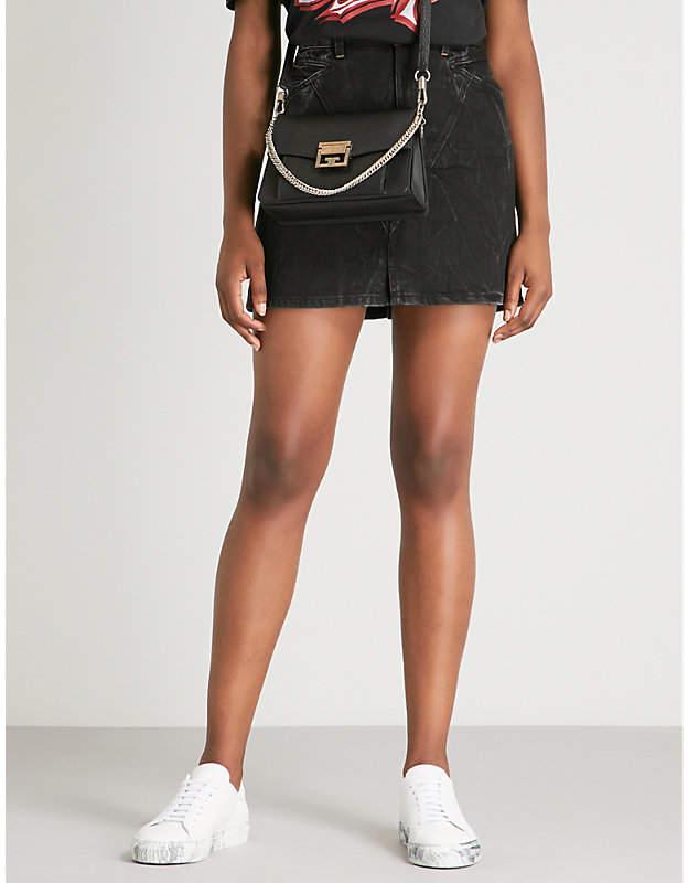 Givenchy Lightning bolt-motif denim mini skirt