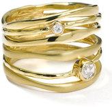 Ippolita 18K Gold Stack Ring with Diamonds (0.23ctw)