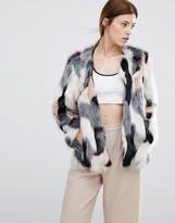 Urban Code Urbancode Pacthwork Faux Fur Bomber Jacket