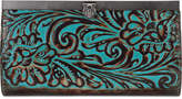 Patricia Nash Turquoise Tooled Cauchy Wallet