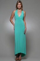 Holly Amanda Long Halter Dress in Atlantis