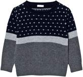Il Gufo Navy and Grey Patterned Jumper