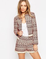 Asos Festival Crop Blazer with Fringe Detail Co-ord