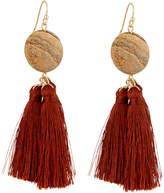 Lydell NYC Triple Tassel Drop Earrings