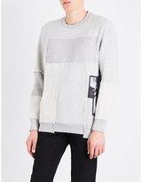 Diesel S-Lowest patchwork cotton-blend sweatshirt