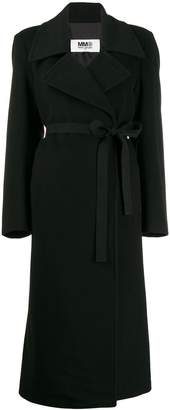 MM6 MAISON MARGIELA belted wool coat