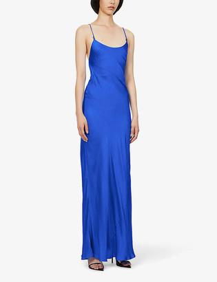 Galvan Castello jacquard-print silk maxi dress