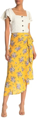 Yumi Kim Live It Up Floral Faux Wrap Skirt
