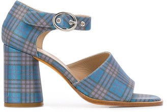 Maryam Nassir Zadeh Eve plaid mid-high sandals