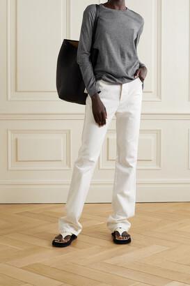 FRANCES DE LOURDES Marlon Slub Cashmere And Cotton-blend Top - Gray