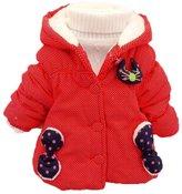 TRURENDI Baby Cute Girls Boys Kids Bea Cat Polka Dot Hoodie Outwear Jacket Snowsuit