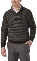 Haggar Men's Classic-Fit 7GG Striped Shawl-Collar Sweater