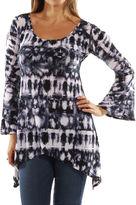 24/7 Comfort Apparel Fantasy Batik Tunic Top