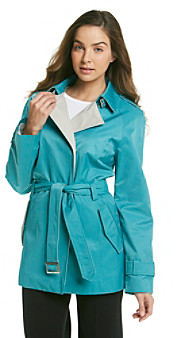 Gallery Belted Colorblock Trench Coat