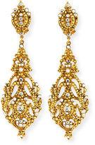 Jose & Maria Barrera Austrian Crystal Pendant Earrings