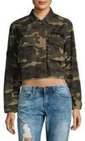 Saks Fifth Avenue 2-Pocket Camo Cotton Short Jacket