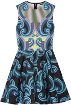 Holly Fulton Kiki printed cotton-blend mini dress