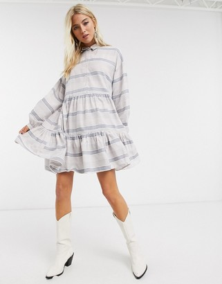 Only smock shirt dress in multi