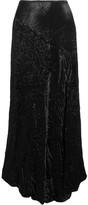 Joseph Louie Crinkled-satin Midi Skirt - Black