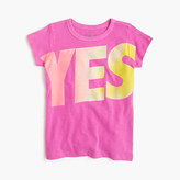 J.Crew Girls' yes-no T-shirt