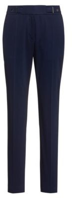 HUGO BOSS Regular Fit Pants With Waistband Detail In Stretch Cotton - Open Blue