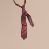 Burberry Modern Cut Check Silk Jacquard Tie