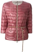 Herno chain belt padded jacket