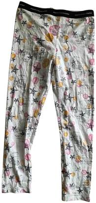 John Galliano Multicolour Cotton Trousers