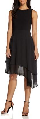 Adrianna Papell Chiffon Tiered Sleeveless Fit & Flare Dress