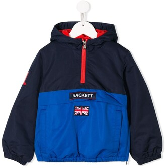 Hackett Kids logo patch rain jacket