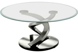 Furniture of America Marisa Glass Top Coffee Table