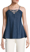 Gold Hawk Cut Out Denim Camisole