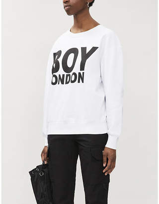 Boy London Logo-print cotton-jersey sweatshirt