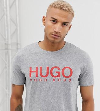 HUGO Dolive logo t-shirt in grey